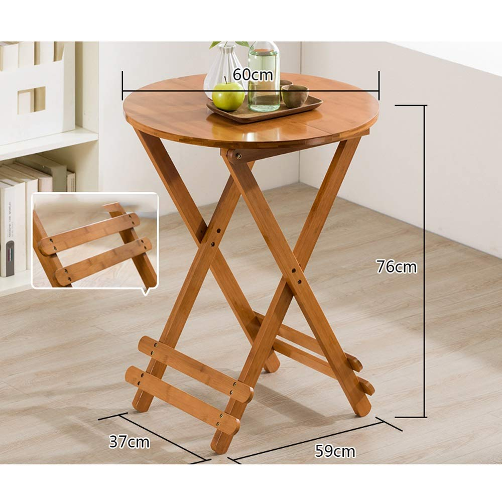 B 100 YAXIAO-table Modern Minimalist Dining Table Home Leisure Folding Table Eating Table Portable Solid Wood Small Apartment Square Table (color   A, Size   80)