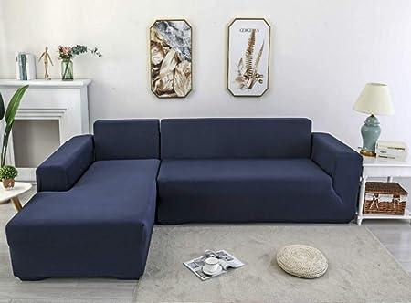 X-ZBS Funda de sofá Cubiertas para sofá elástico en Forma de L Funda de sofá (sofá de Esquina en Forma de L Debe Comprar Dos): Amazon.es: Hogar
