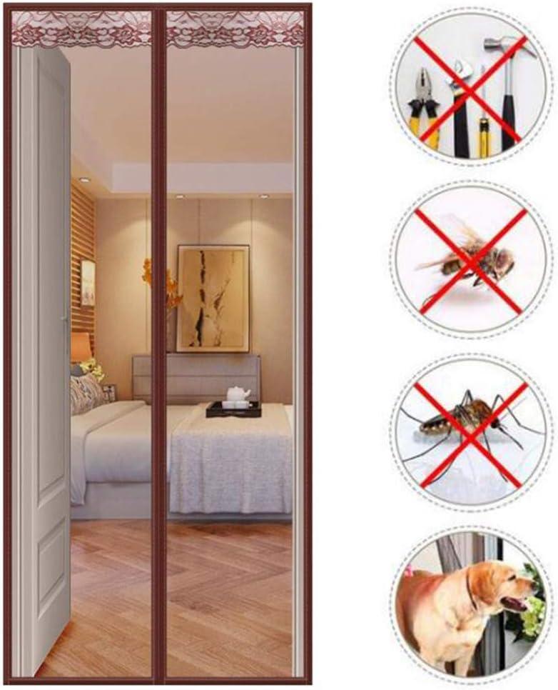 ZSHYP Cortina Mosquitera Cierra AutomáTicamente, Mosquitera Puertas Magnética Poderoso Imanes para Puerta De Balcón Sala De Estar,120x210CM: Amazon.es: Hogar
