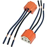 uxcell 2 x H4 9003 Ceramic Wire Wiring Harness Sockets for Car Headlight