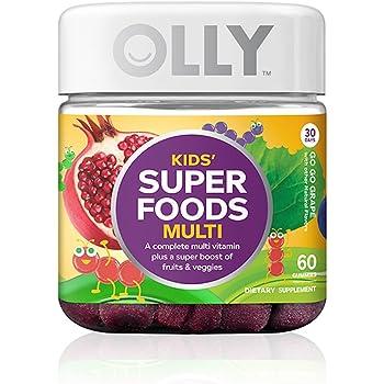 Amazon Com Olly Kids Super Foods Multivitamin Gummy