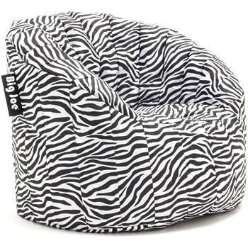 Amazon Com Big Joe Lumin Smartmax Fabric Chair Zebra