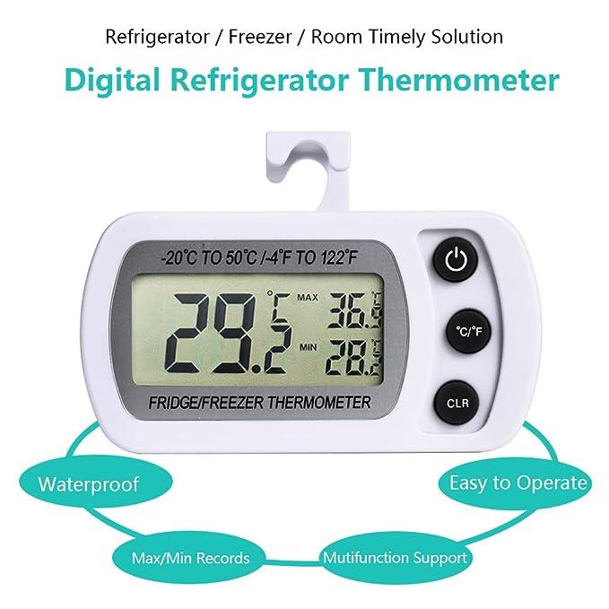 NEXGADGET Termómetro de Frigorífico Mini Digital Preciso LCD ...