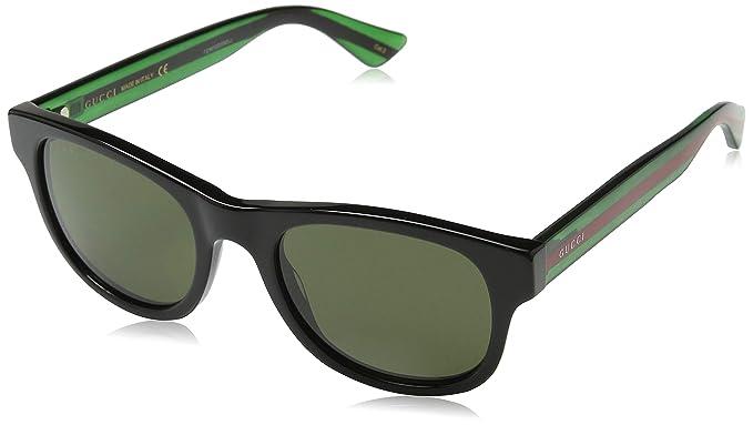 Amazon.com: Gucci GG 0051s 001 Oro Negro de plástico ...
