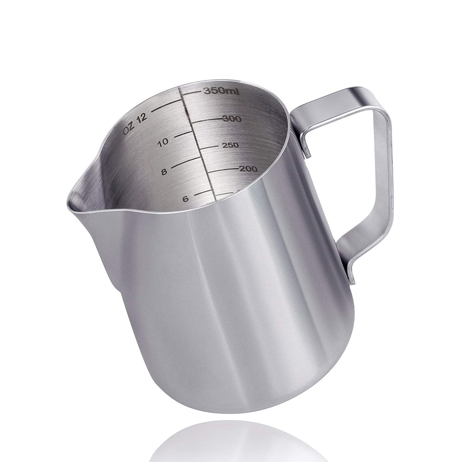 Garland Cup With Measurement Marking For Milk Tea Coffee And Latte Art iMucci 12 oz 304 18//8 Stainless Steel Milk Frothing Pitcher