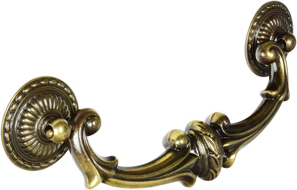 #BF-12 CKP Brand 5-1/2 in. (140mm) Furniture Bail Pull, Antique English - 2 Pack