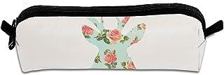 Floral Deer Silhouette Unisex Handy Handmade Canvas Pencil Cases & Bags Pencil Box Pencil Bag Pen Case