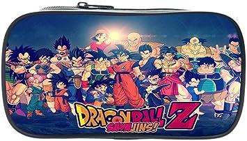 Twhoixi Anime Dragon Ball Kids Estuche de lápices Goku Vegeta Cute Boys Bolígrafo Cell Beautiful Students Stationery Storage: Amazon.es: Equipaje
