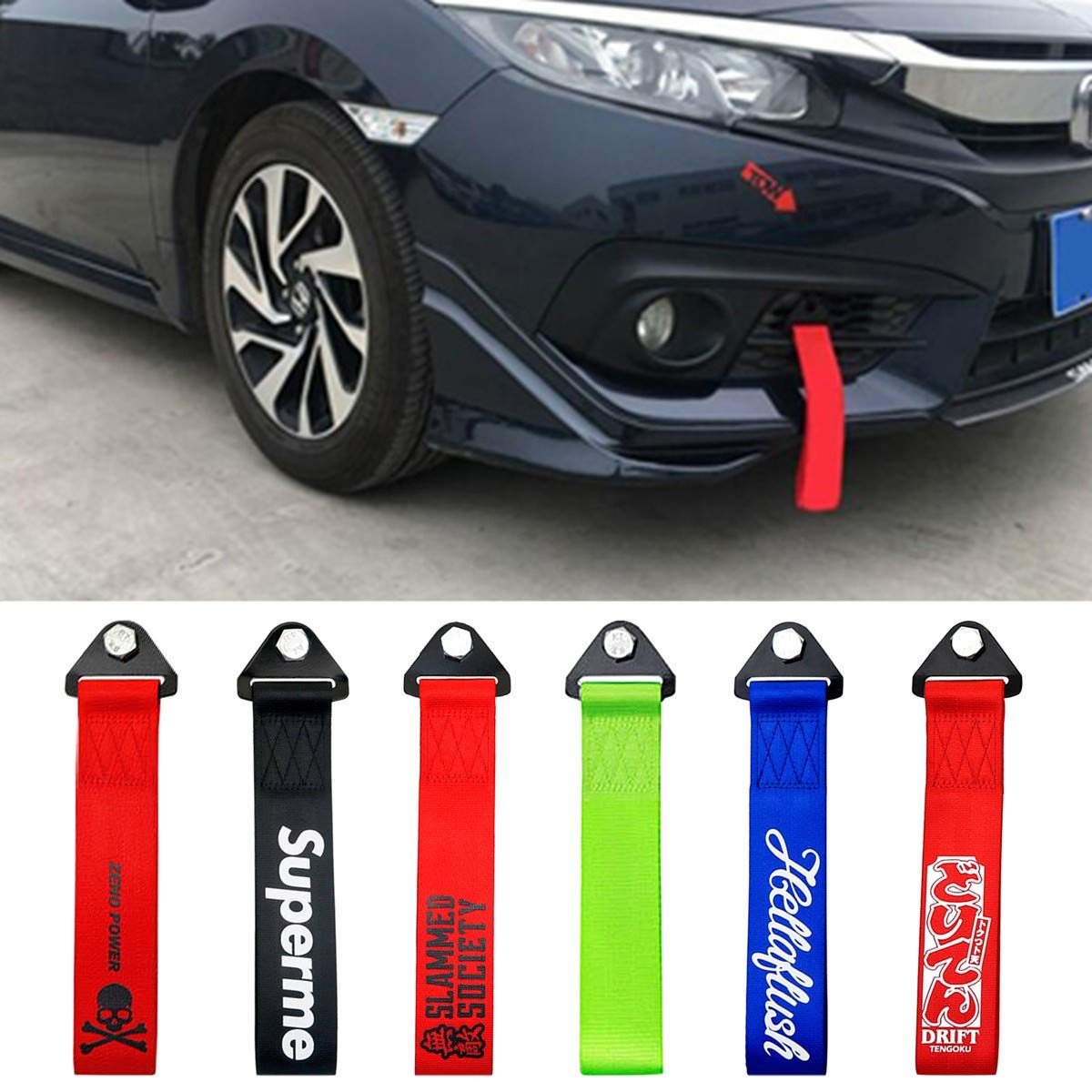 8000kg 8T 3M Tow Towing Pull Rope Strap Heavy Duty Road Recovery Car Van 4x4