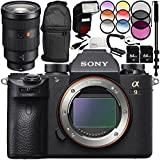 Sony Alpha a9 Mirrorless Digital Camera with FE 24-70mm f/2.8 GM Lens 14PC Accessory Bundle – Includes 3 Piece Filter Kit (UV + CPL + FLD) + MORE