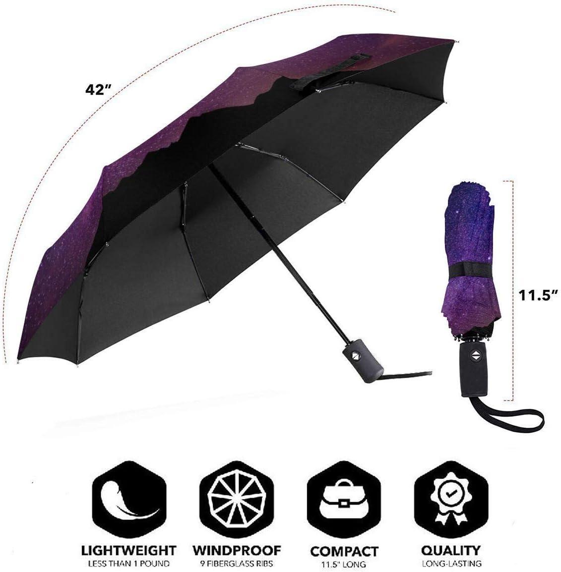 XGXC Stars-night Automatic Tri-fold Umbrella Inside Print One Size