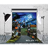 LB 5x7ft Halloween Vinyl Photography Backdrop Customized Photo Background Studio Prop WSJ970