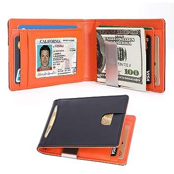 884ac176e9cd9e Kinvac RFID Blocking Money Clip Wallet-Mens Wallets Slim Front Pocket RFID  Blocking Card Holder