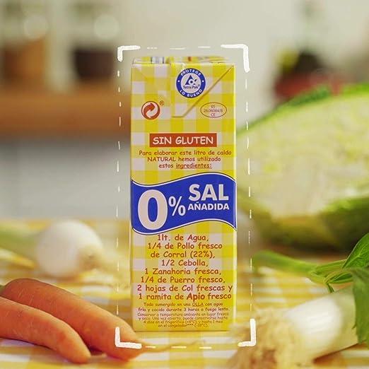 Aneto 100% Natural - Caldo de Pollo 0% sal - caja de 6 unidades de ...