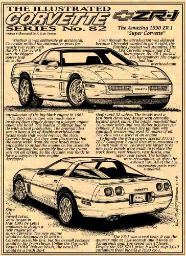 1990 ZR-1 C4 Corvette Art - Confirmation Cost Delivery Of