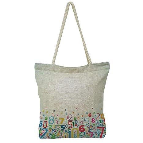Amazon Com Iprint Handbag Cotton And Linen Shoulder Bag Leisure
