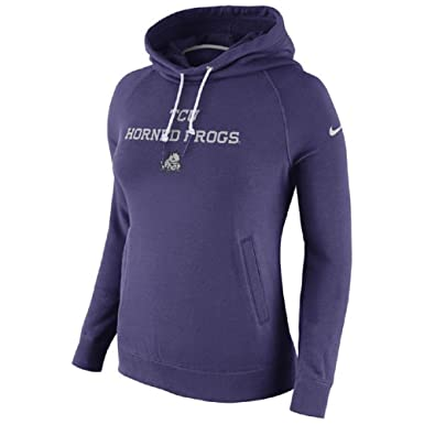 79bce385bf93 Amazon.com  NIKE Women s TCU Horned Frogs Stadium Rally Funnel Neck ...