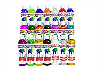 product image for Colorations Liquid Watercolor Paints 8 oz. Bottles Classroom Supplies for Arts and Crafts Multicolor Variety Pack (Pack of 21)