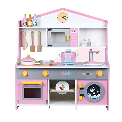 Amazon.com: Ama-store Wooden Kitchen Toy Set Toys Kitchen ...