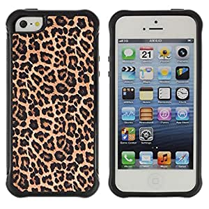 SHIMIN CAO@ Leopard Pattern Fur Brown Golden Rugged Hybrid Armor Slim Protection Case Cover Shell For iphone 5S CASE Cover ,iphone 5 5S case,iphone5S plus cover ,Cases for iphone 5 5S
