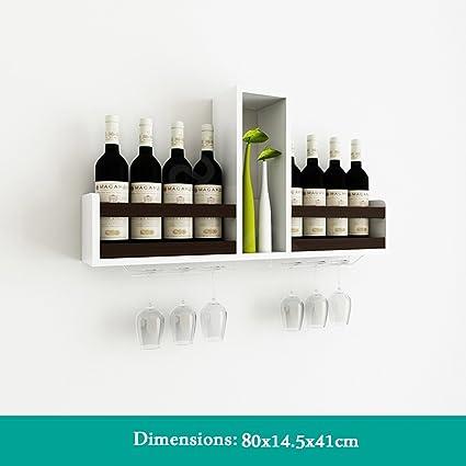 Estante para vinos Soporte de pared Estante para vinos Colgante creativo Barra de mostrador Organizador de