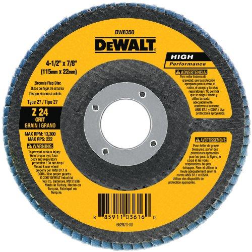 DEWALT DW8303 4 Inch Zirconia Grinder