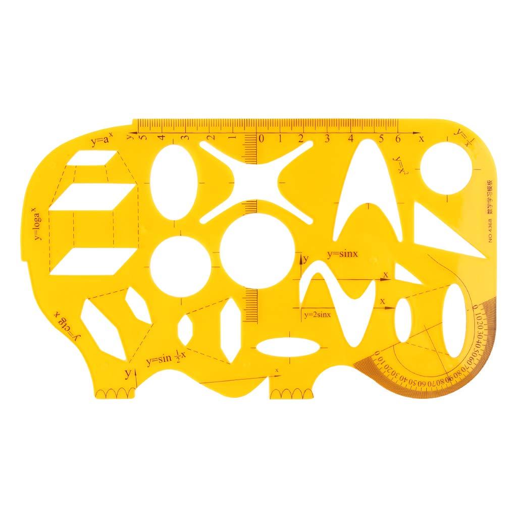 Plantilla de resina con forma de c/írculos tri/ángulo geom/étrico Mikiya
