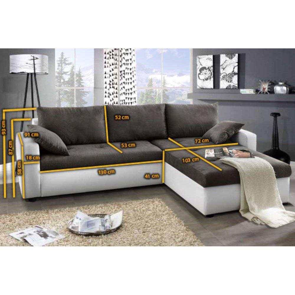 JUSThome Justyou Focus sofá de Esquina Terciopelo Ante sintético/Piel sintética (lxlxh): 142 x 239 x 93 cm púrpura para Elegir, Blanc/A-73, langle ...
