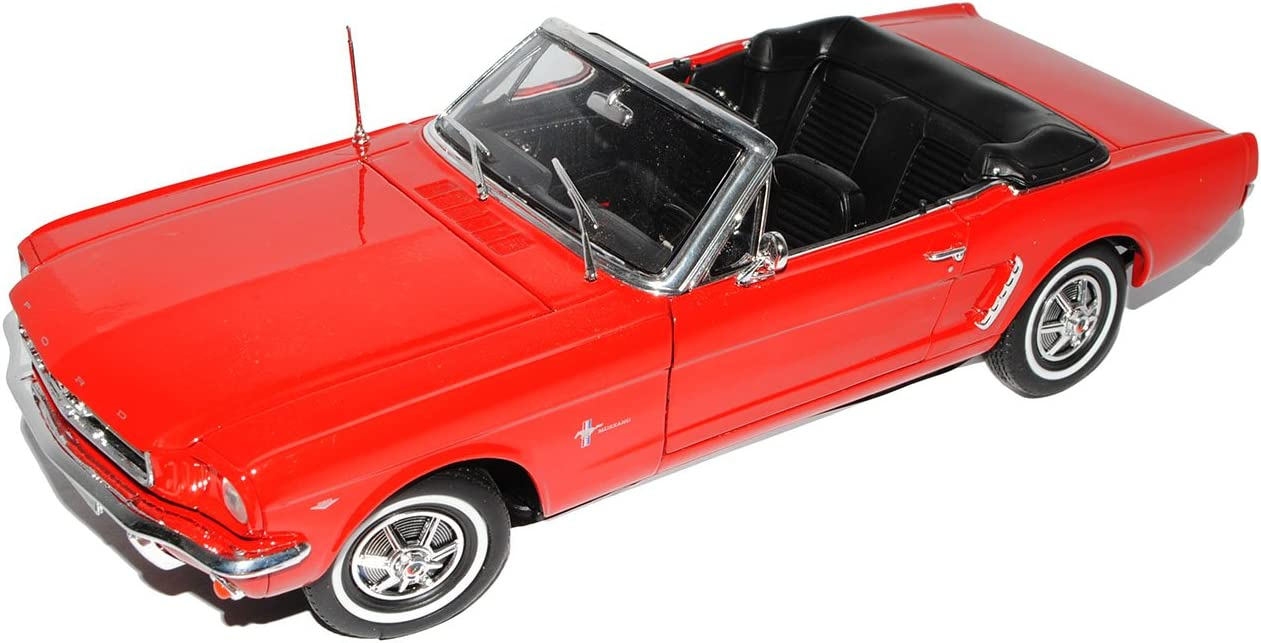 Welly Modellauto 1:18 1964 Ford Mustang Cabrio Rot