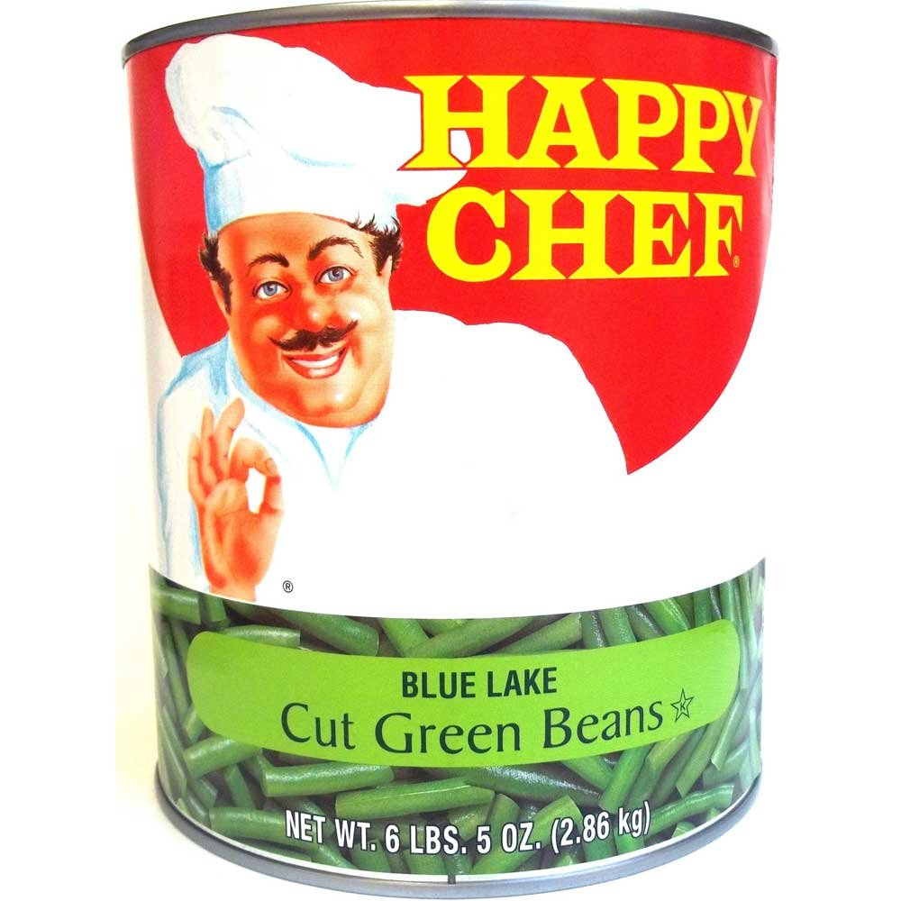 Happy Chef 5 Sieve Cut Canned Green Bean, 106 Ounce - 6 per case.