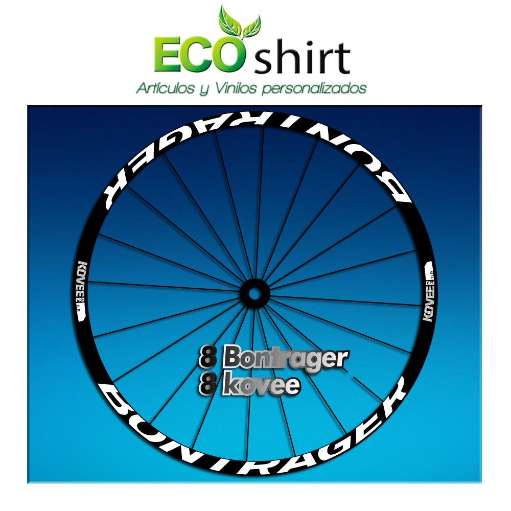 Bianco Ecoshirt CR-BAJQ-M5G5 Adesivi Stickers Bontrager Kovee PRO TLR Am206 Wheel Aufkleber Rim