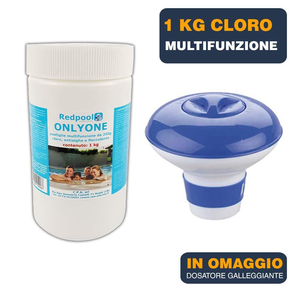 1 kg de cloro en pastillas multiacción para piscina 200 g ...