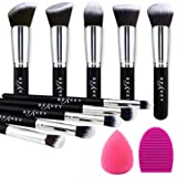 BEAKEY Makeup Brush Set Premium Synthetic Kabuki Foundation Face Powder Blush Eyeshadow Brushes Makeup Brush Kit with…