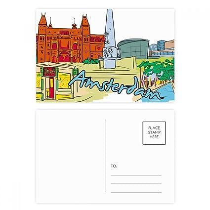 DIYthinker Gracias Holanda Armsterdam acuarela postal ...
