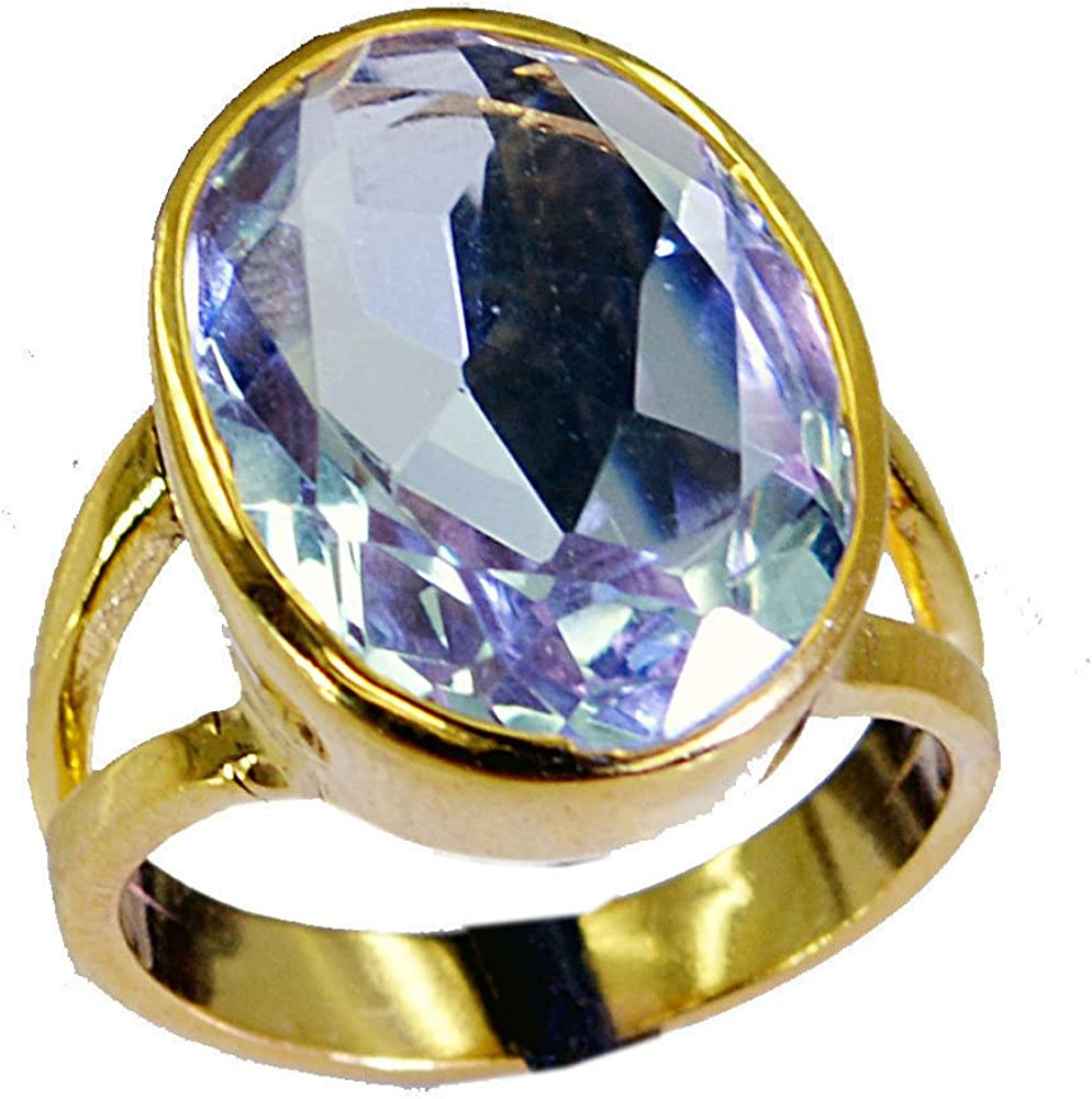 14K Gold Plated Gemstone Jewelry Natural Amethys Ring Birthstone Ring Amethyst Jewelry Gold Ring Handmade Jewelry Gemstone Ring