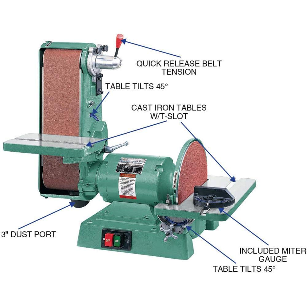 Fabulous Grizzly Industrial G1276 6 X 48 Belt 12 Disc Combo Sander 1725 Rpm Ncnpc Chair Design For Home Ncnpcorg