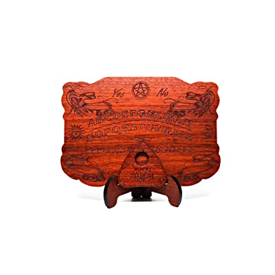 Mini Ouija Board in African Padauk Wood - 8 x 5.5 in, 1/4 Thick - All Natural - Real Plain Wood - Customizable: Toys & Games