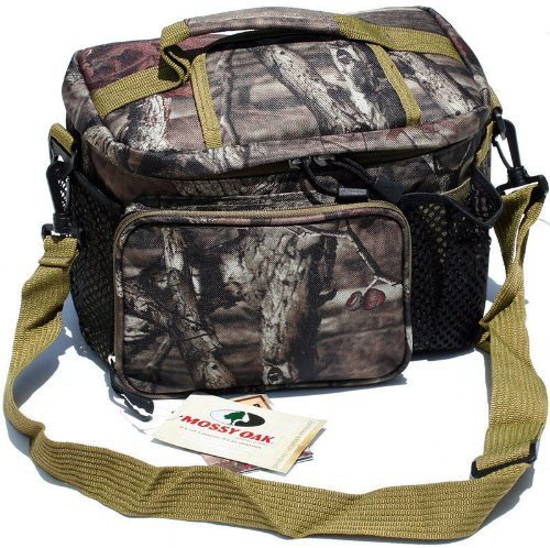 Stack Oak (Mossy Oak Licensed 12 Can Insulated Lunch Bag Cooler Leak Proof & Weather Proof with Convenient Easy Access Top)