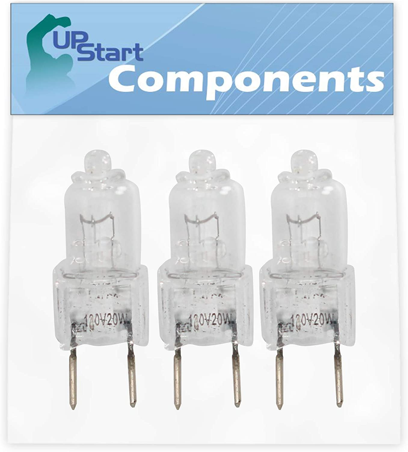 3-Pack 4713-001165 Microwave Halogen Light Bulb Replacement for Kenmore/Sears 40185053010 Microwave - Compatible with Samsung 4713-001165 Light Bulb