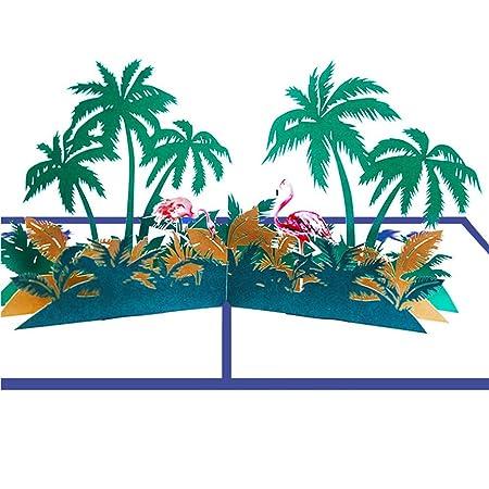 Luo 401xx Papel De Regalo 3d Hecho A Mano árbol De Coco