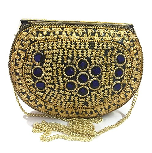 metal bolso Bolsas de cartera Embrague de de Marriage de bag embragues de Casual mano la honda de Étnico crossbody hombro bolsa Monedero la embrague noche Mosaico messenger mujeres cartera de RRrqT