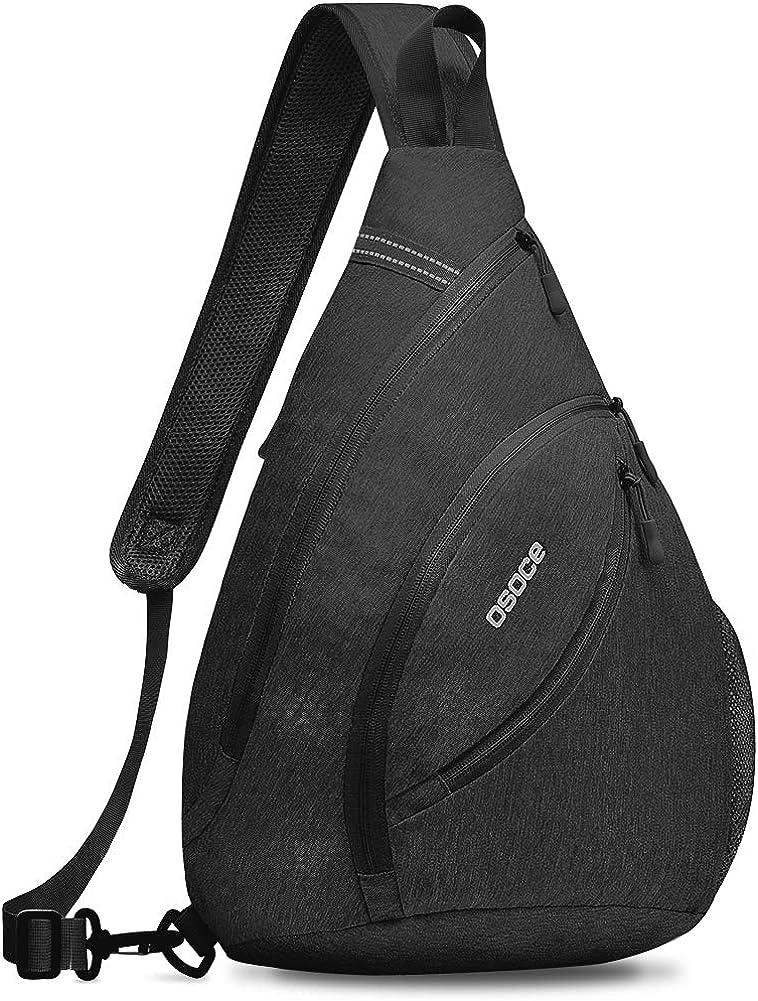 OSOCE Sling Bags,Shoulder Backpack,Over Chest Cross body Bag Pack Sport