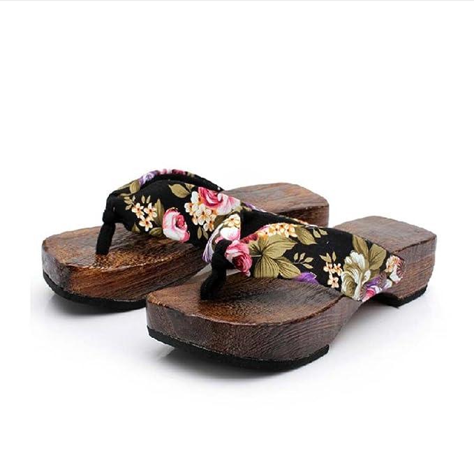 ZARLLE Sandalias Casuales Zapatos De Playa Sandalias Romanas Chanclas De Damas Plataforma De Verano Zapatos Mujer Zuecos De Madera Madera Chanclas Sandalias ...