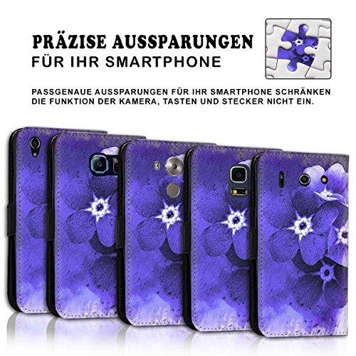 Wallet Book Style Flip Handy Tasche Case Schutz Hülle Schale Motiv Etui für Apple iPhone 5 / 5S - Design Flip MVD268
