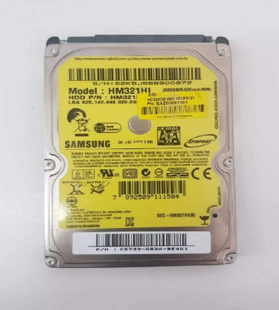 Samsung HM321HI - Disco Duro Interno de 320 GB (5400 RPM, 6,3 cm ...