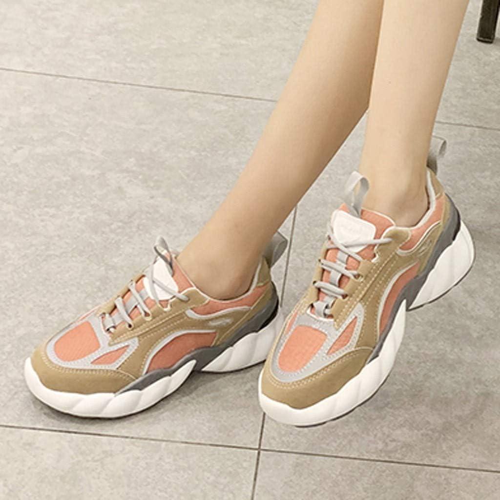 Wyxhkj Zapatillas De Deportivos De Running Para Mujer De Malla Inferior Gruesa Zapatillas De Correr Con Plataforma De Verano Estudiantes Transpirables Zapatos Casuales Gimnasia Ligero: Amazon.es: Ropa y accesorios