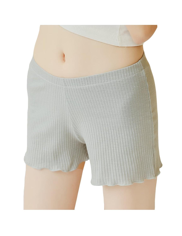 Legou Women's Cotton Solid-Color Elasticity Elastic Waist Shorts LGMUBD0260-5
