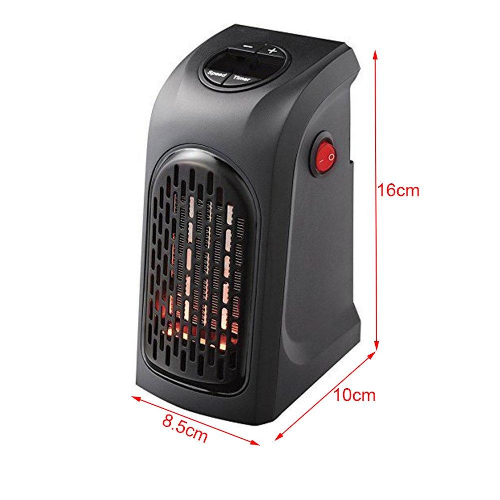 Ventilador calefactor , 400 vatios calefactor portatil con el sistema inteligente del control y la exhibición de Digitaces LED, calefactor de aire para el ...