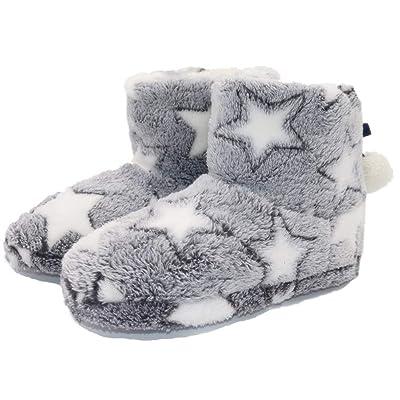 Women's Boot Slippers Winter Cozy Soft Memory Foam Fuzzy Plush Girls House Shoes Socks Anti-Skid Sole   Slippers