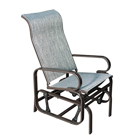 sunlife glider sling rocking chair with gravity heavy duty steel frame indoor patio garden furniture - Garden Furniture Steel